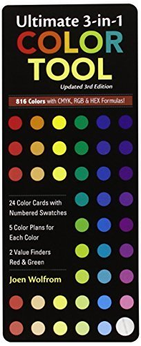 - Ultimate 3-In-1 Color Tool: -- 24 Color Cards with Numbered Swatches -- 5 Color Plans for Each Color -- 2 Value Finders Red & Green (Undefined) - Common