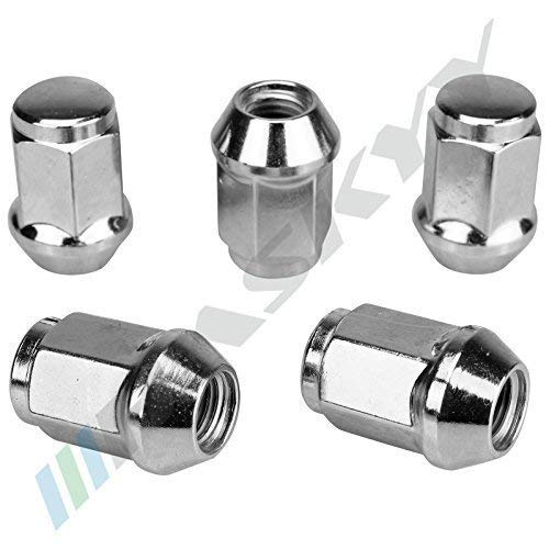 16 Chrome /Écrou de Roue M/ère M12x1 5x34 Sw19 Cone Composite C/ône 60/° Aluminium Acier Jantes