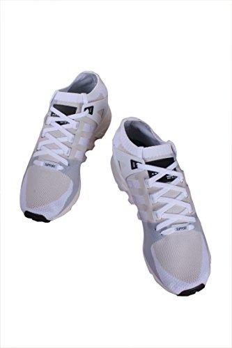 ... Adidas Menns Eqt Støtte Adv Mote Sneaker Sko Hvit / Core Svart-off White  ...