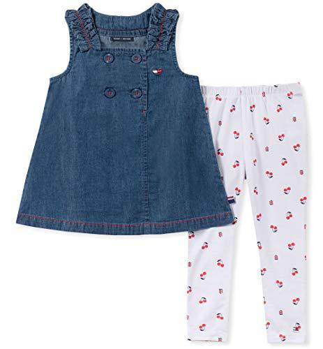 Tommy Hilfiger Girls' Little 2 Pieces Legging Set, Blue/Print 5