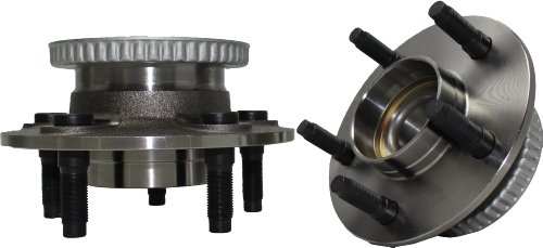 Crown Axle Hub Stud (Brand New (Both) Front Wheel Hub and Bearing Assembly Crown Victoria, Grand Marquis, Town Car 5 Lug W/ ABS (Pair) 513104 x2)
