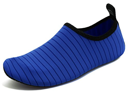 GUPYING Womens and Mens Summer Outdoor Water Shoes Aqua Socks for Beach Swim Surf Yoga Exercise (M(W:7.5-8.5,M:6.5-7.5), Blue) 38-39 by GUPYING (Image #5)