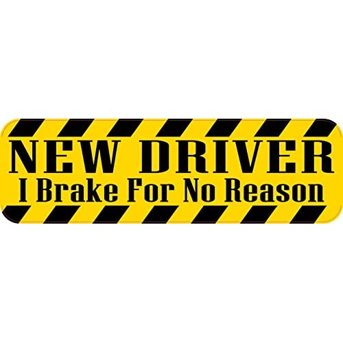 10in x 3in I Brake For No Reason New Driver Bumper Sticker Vinyl Caution Stickers supplier
