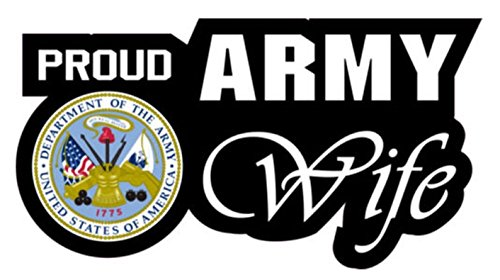 1 Set Magnificent Unique Proud Army Wife United States of America Department 1775 Sticker Sign Military Home Trucks Window Decal Bike Patches Decals Macbook Laptop Cars Wall Stickers Size 6