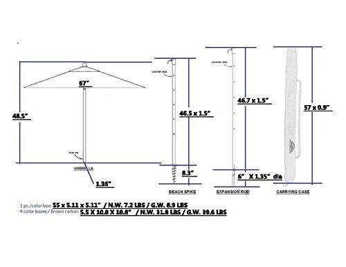 Hospitality Rattan XL-150 Hydra Shade 8' Square Boating & Beach Umbrella Kit, White by Hospitality Rattan (Image #11)
