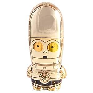 Mimoco C-3PO MIMOBOT - Memoria USB (16 GB, USB 2.0, Tapa, Oro, 2,54 cm, 6,35 cm)
