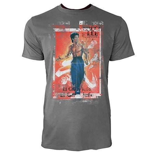 SINUS ART® El Gran Jefe Herren T-Shirts graues Cooles Fun Shirt mit tollen Aufdruck