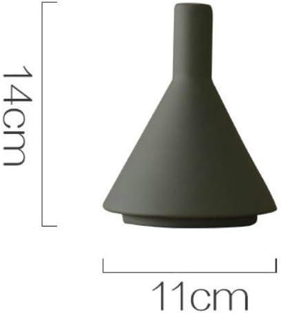 Decoración Minimalista Moderna del florero de cerámica Decoración casera, Ceniza de Cemento A: Amazon.es: Hogar
