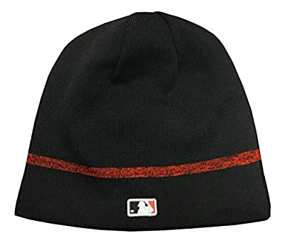 New Era MLB Baltimore Orioles Clubhouse Stocking Knit Hat Beanie Skull Cap Black