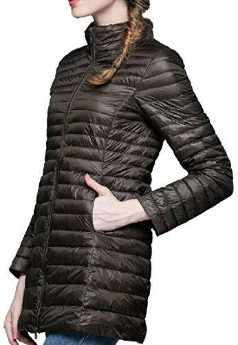 Stand Lightweight Long Collar Down 4 Sleeve Jacket Long Coats Women TTYLLMAO XwEpRxq5n
