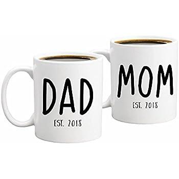 new parents pregnancy 2018 announcement coffee mug set 11oz unique christmas gift for parents to