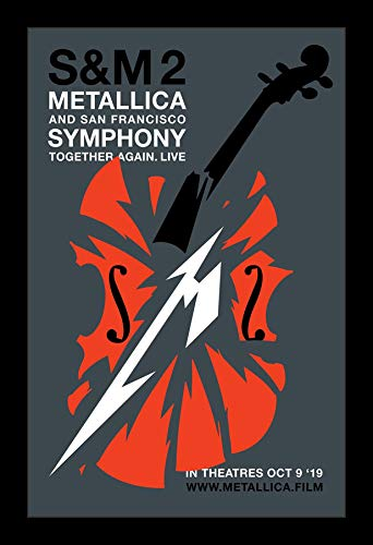 Wallspace 11x17 Framed Movie Poster - S&M 2 Metallica and San Francisco Symphony