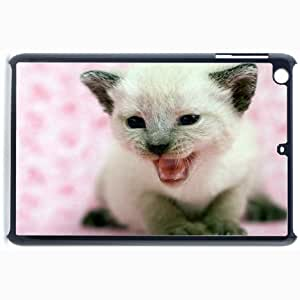 Customized Back Cover Case For iPad Mini 2 Hardshell Case, Black Back Cover Design Kitten Personalized Unique Case For iPad Mini 2