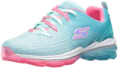 Skechers Kids Girls' Skech-Air Deluxe Sneaker,Aqua/Pink,4.5 M US Big Kid