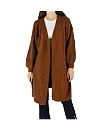 YSJ Women's Basic Open Front Long Sleeve Knit Cardigan Coat Sweater Top