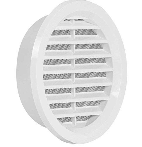 Plástico Haco - Rejilla rejilla - Redonda - con conector de brida/tubo y protección antinsectos - Deck métrica: 130 mm (vm110): Amazon.es: Bricolaje y ...