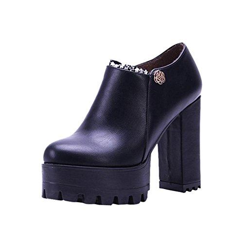 Western Zip Heel Block Carolbar Women's Boots Ankle Platform Modern Black xYqYHwP