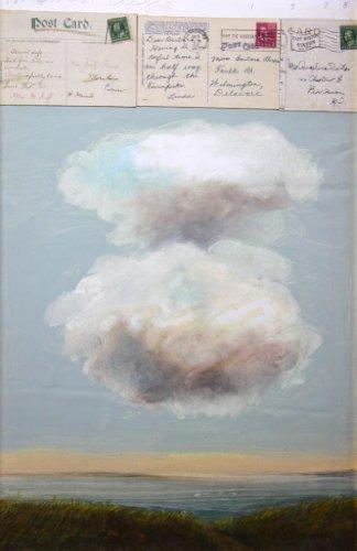 Postcard Elegie: Twin Clouded Morning Postcards Framed Art Wall Decor
