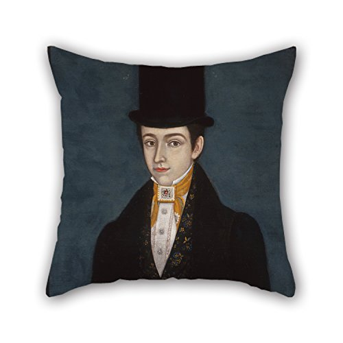 slimmingpiggy oil painting José María Estrada - Portrait of Miguel Arochi y Baeza cushion cases 18 x 18 inches / 45 by 45 cm gift or decor for home office, club, kids girls, boys, her, car seat - both