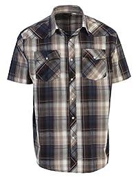 Gioberti Men's Short Sleeve Plaid Western Shirt