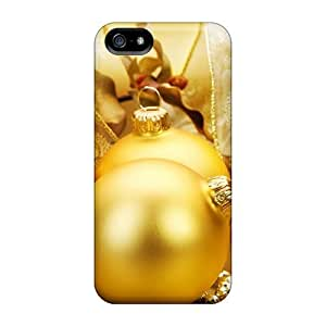 Awesome Yellow Christmas Tree Globes Flip Cases With Fashion Design For Iphone 5/5s by runtopwell