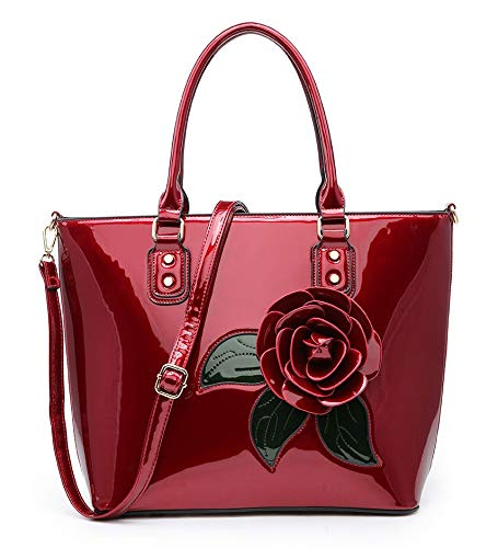 Para Hombro Charol Al De Style With Bolso Riddled Mujer Rosa Ifw0aqn