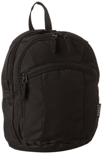 Everest Deluxe Small Backpack, Black, One Size ()