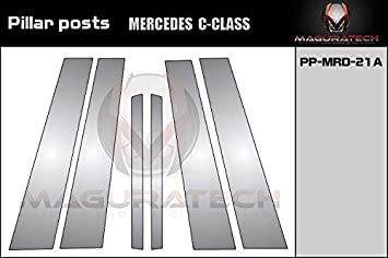 AUTOCARIMAGE Glossy Piano Black Pillar Posts Covers for Mercedes C Class 15 16 17 18 19-6 Pieces B Pillars