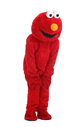 Elmo Mascot (Elmo Red Costume Adult Size For Birthday Boy or Girl Party Event …)