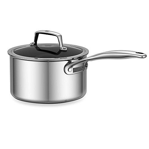 Zwilling Energy 3-Quart Ceramic-Coated Stainless Steel Covered Saucepan