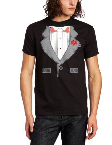 [T-Line Men's Tuxedo T-Shirt, Black, Medium] (Doa Rachel Costumes)