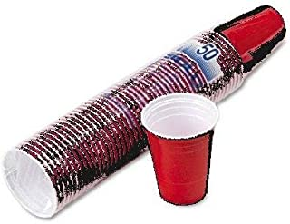 product image for Party Cup, Plastic Construction, for Cold Drinks, 16 Oz Capacity, Red, 50/bag Slops16r (100)