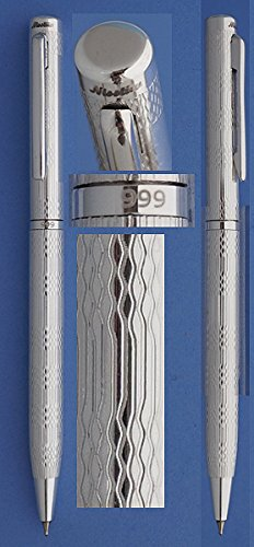 Nisstiiv Palace Ballpoint Pen in 999 Solid Silver perfect...