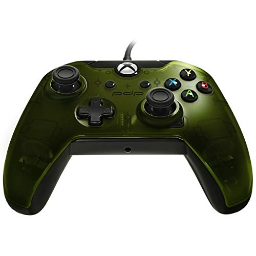 PDP Wired Controller for Xbox One, Xbox One X and Xbox One S, Verdant Green (Edition Kombat X Mortal Import)