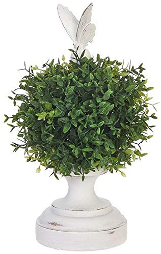 RAZ Imports Artificial Boxwood Topiary with Butterfly