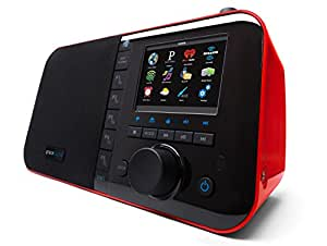 Grace Digital GDI-IRC6000R Wi-Fi Music Player with 3.5-Inch Color Display (Red)
