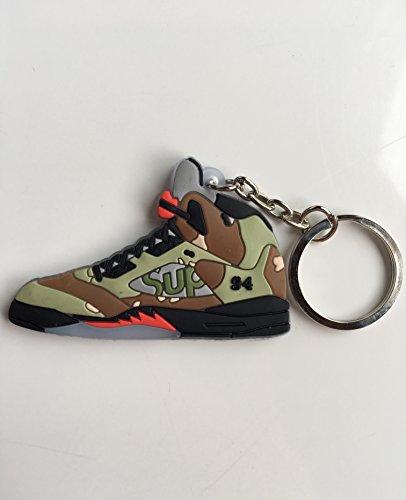 Jordan Retro 5 X Supreme Camo Sneaker Keychain Shoes Keyring AJ 23 OG -