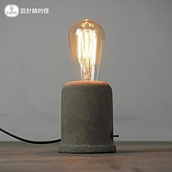 Injuicy Lighting Loft Vintage Industrial Edison Cement Concrete Desk Accent Lamps Retro E27 Led Table Lights