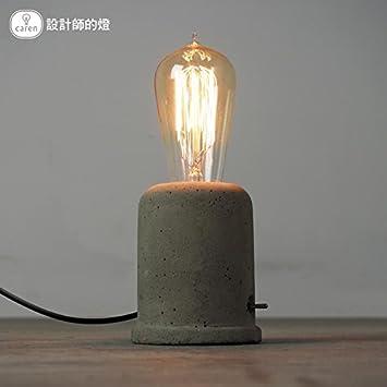 Injuicy Vintage Cement Concrete Table Lamp Loft Retro Style Desk Lamps For  Living Room Decor