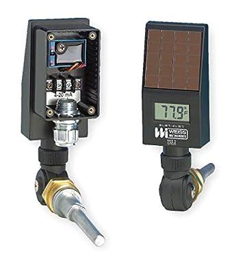 Termómetro Digital funciona con energía solar, color negro: Amazon.es: Amazon.es