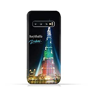 AMC Design Samsung Galaxy S10 Plus TPU Silicone Soft Protective Case with Burj Khalifa Illuminated Pattern