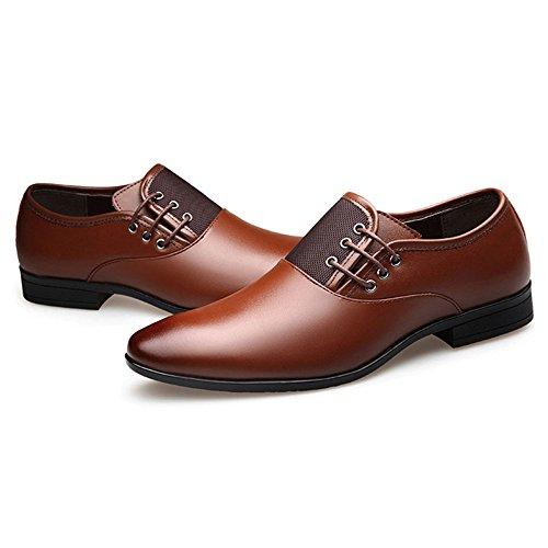 Hommes OEMPD en pour brown Pointues Chaussures Hommes pour Véritable Cuir Chaussures Affaires Habillées qqpgUHPwx