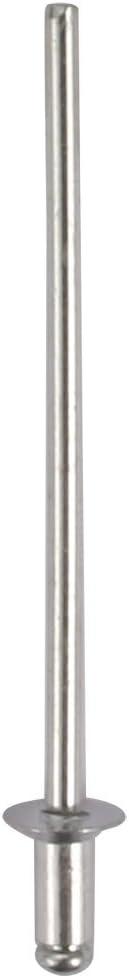 sourcingmap M2.4x5mm Aluminum Open End Countersunk Head Blind Rivets Silver Tone 100pcs