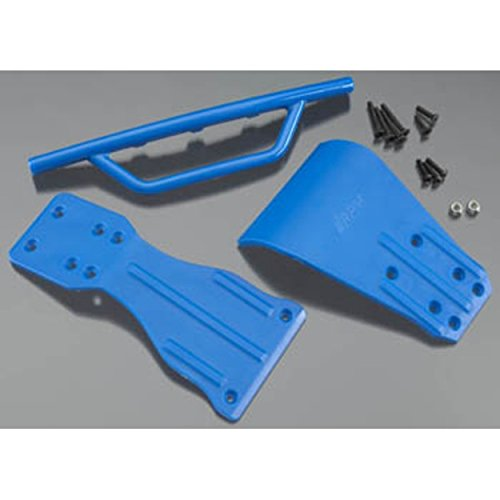 RPM 70905 Front Bumper, Skid Plate, Chassis Brace,Blue: Associated SC10