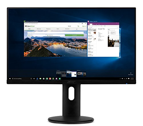 "Acer ET241Y Abmir 23.8"" Full HD (1920 x 1080) IPS Zero Frame Monitor with Tilt/Height Adjustment and Built-in Speakers (HDMI & VGA Port)"