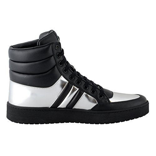 Gucci-Womens-Black-Silver-Leather-Hi-Top-Sneakers-Shoes