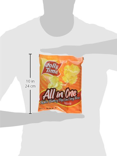 JOLLY TIME All in One Kit for 12 oz. Popcorn Machine | Portion Packet with Kernels, Oil and Salt Commercial, Movie Theater or Air Popper (Net Wt. 16 oz. Each, Pack of 24) by Jolly Time (Image #9)