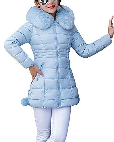 Giacca Small Donna Leggera Cappuccio Spesso Parka Cappotto Con Zhrui Antivento Da Dimensione colore Blu ORxUq5TUw