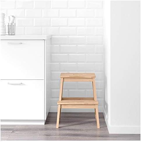 IKEA BEKVAM Taburete Escalon Haya: Amazon.es: Hogar