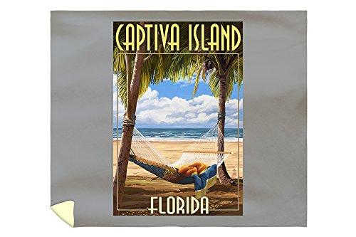 Lantern Press Captiva Island, Florida - Hammock Scene 41522 (88x104 King Microfiber Duvet Cover)